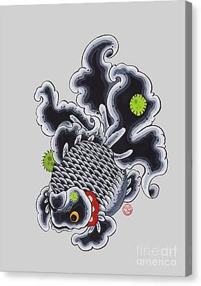 Goldfish Black Canvas Print by Shih Chang Yang