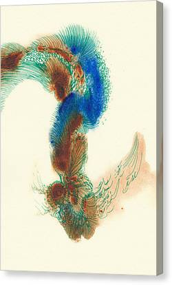 Goldfish - #ss14dw025 Canvas Print by Satomi Sugimoto