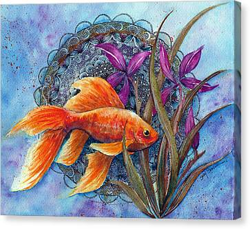 Goldfish Canvas Print by Susy Soulies