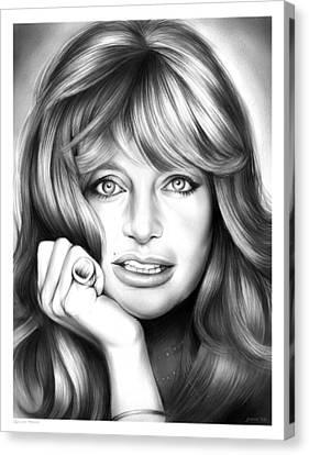 Goldie Hawn Canvas Print by Greg Joens