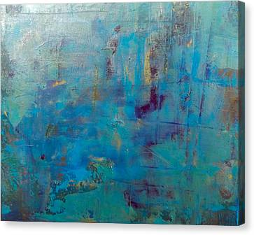 Goldnblue#46 Canvas Print by Original Art For your home