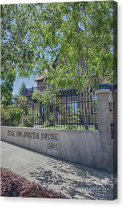 Goldwater House 1894 Canvas Print by Anne Rodkin