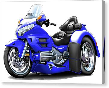 Goldwing Blue Trike Canvas Print by Maddmax