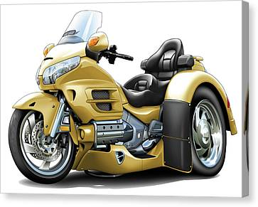 Goldwing Gold Trike Canvas Print by Maddmax
