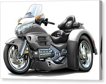 Goldwing Grey Trike Canvas Print by Maddmax