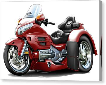 Goldwing Maroon Trike Canvas Print by Maddmax