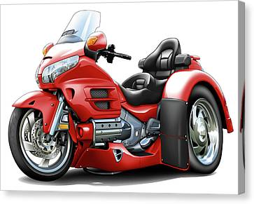 Goldwing Red Trike Canvas Print by Maddmax