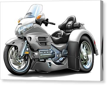 Goldwing Silver Trike Canvas Print by Maddmax