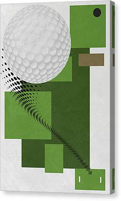Golf Ball Canvas Print - Golf Art Par 4 by Joe Hamilton