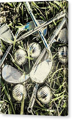Golf Chrome Canvas Print by Jorgo Photography - Wall Art Gallery
