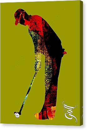 Golf Collection Canvas Print