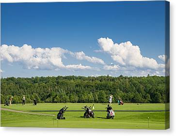 Golf Course Schoenbuch In Germany Canvas Print by Matthias Hauser