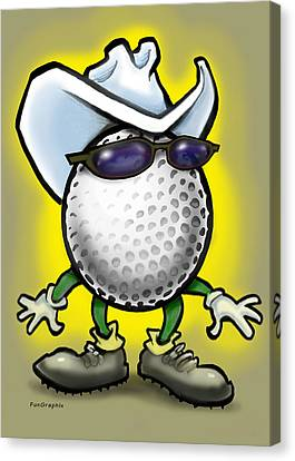 Golf Cowboy Canvas Print