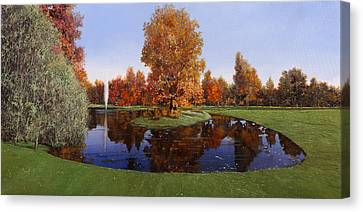 Golf  Cherasco Canvas Print by Guido Borelli