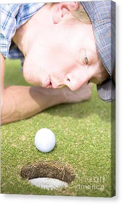 Golf Hole In One Puff Canvas Print by Jorgo Photography - Wall Art Gallery
