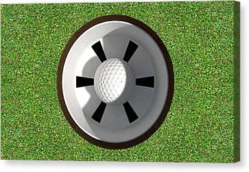 Golf Hole With Ball Inside Canvas Print