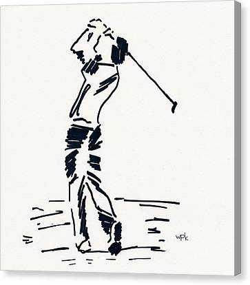 U.s.open Canvas Print - Golf I by Winifred Kumpf