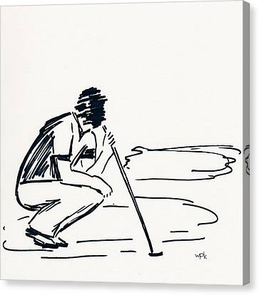 U.s.open Canvas Print - Golf IIi by Winifred Kumpf