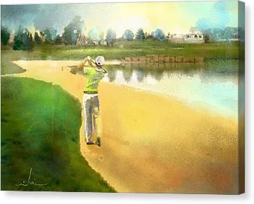 Golf In Club Fontana Austria 02 Canvas Print by Miki De Goodaboom