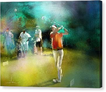 Golf In Club Fontana Austria 03 Canvas Print by Miki De Goodaboom