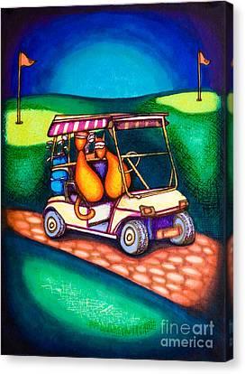 Golf Kats Canvas Print by Laurie Tietjen