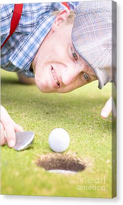 Golf Lunatic Canvas Print by Jorgo Photography - Wall Art Gallery