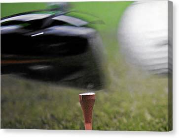 Golf Sport Or Game Canvas Print by Christine Till
