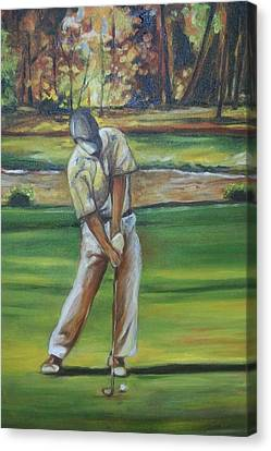 Canvas Print featuring the painting Golf Tips by Emery Franklin