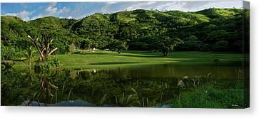 Golfito Desde La Laguna Canvas Print by Bibi Rojas