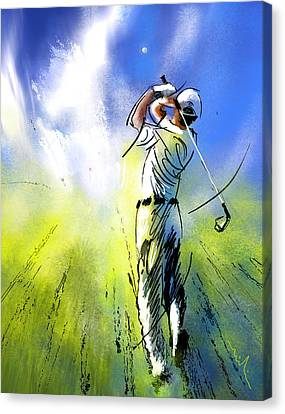 Golfscape 01 Canvas Print by Miki De Goodaboom