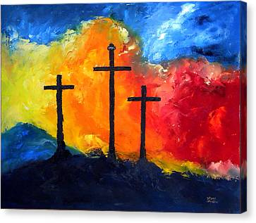 Golgotha Canvas Print by David McGhee