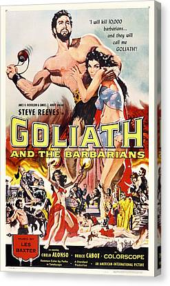 Goliath And The Barbarians 1959 Canvas Print by Mountain Dreams