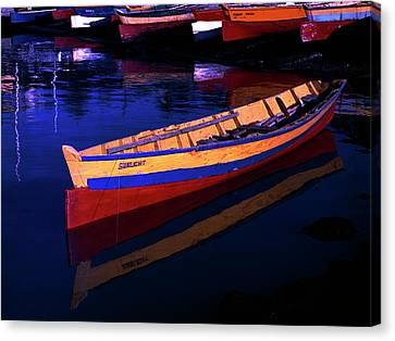 Gomier Canoe-st Lucia Canvas Print by Chester Williams