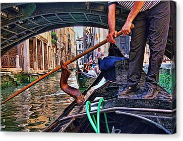 Canvas Print featuring the photograph Gondola 2 by Allen Beatty