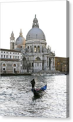 Gondola Alla Salute Canvas Print by Marco Missiaja