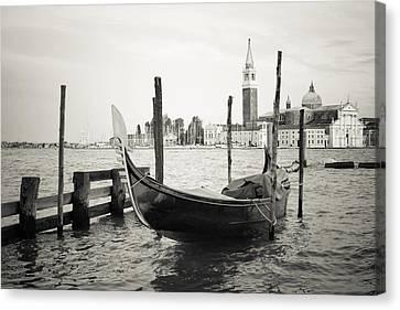 Gondola In Bacino S.marco S Canvas Print by Marco Missiaja