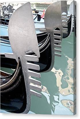 Gondola In Line Canvas Print by Heiko Koehrer-Wagner