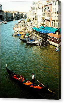 Gondola In Venice Italy Canvas Print by Michelle Calkins