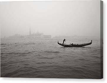 Gondola Nella Nebbia 193042x Canvas Print by Marco Missiaja