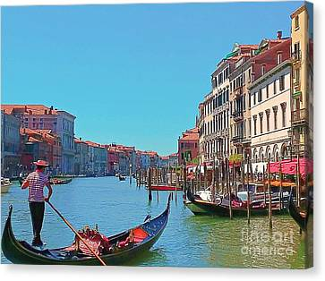 Lovely Day In Venice Canvas Print