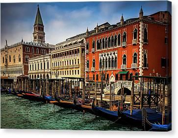 Gondolas At San Marco Canvas Print