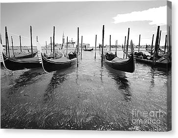 Gondolier In The Distance Canvas Print by Floyd Menezes