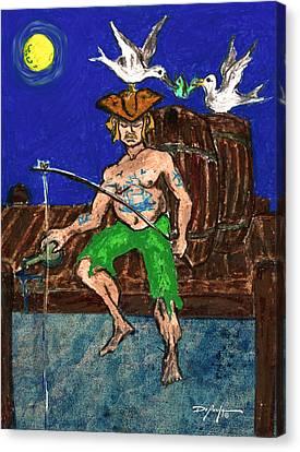 Gone Fishing Canvas Print by William Depaula