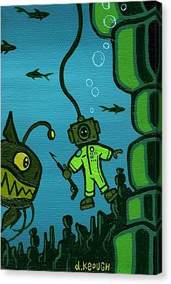 Gone Fish'n Canvas Print by Dan Keough
