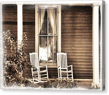 Rocking Chairs Canvas Print - Gone by Julie Palencia
