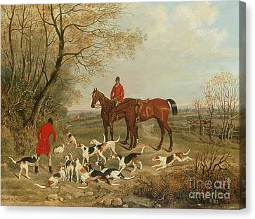 Chestnut Horse Canvas Print - Gone To Earth by James Russell Ryott