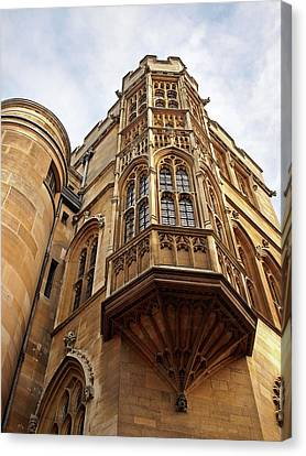 Canvas Print featuring the photograph Gonville And Caius College Library Cambridge by Gill Billington