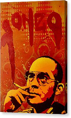 Gonzo - Hunter S. Thompson Canvas Print by Tai Taeoalii