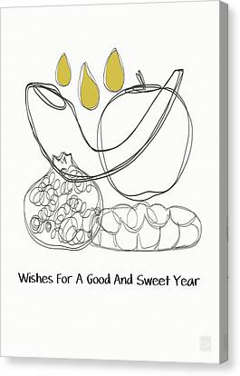 Good And Sweet Year- Art By Linda Woods Canvas Print by Linda Woods