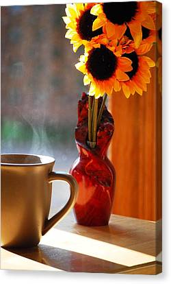 Good Day Brewing Canvas Print by Peter  McIntosh